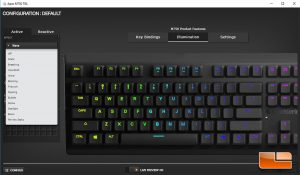 The M750 TKL RGB has extensive RGB settings