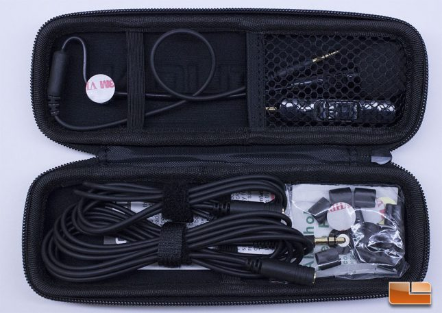 ModMic 5 carrying case, open with contents
