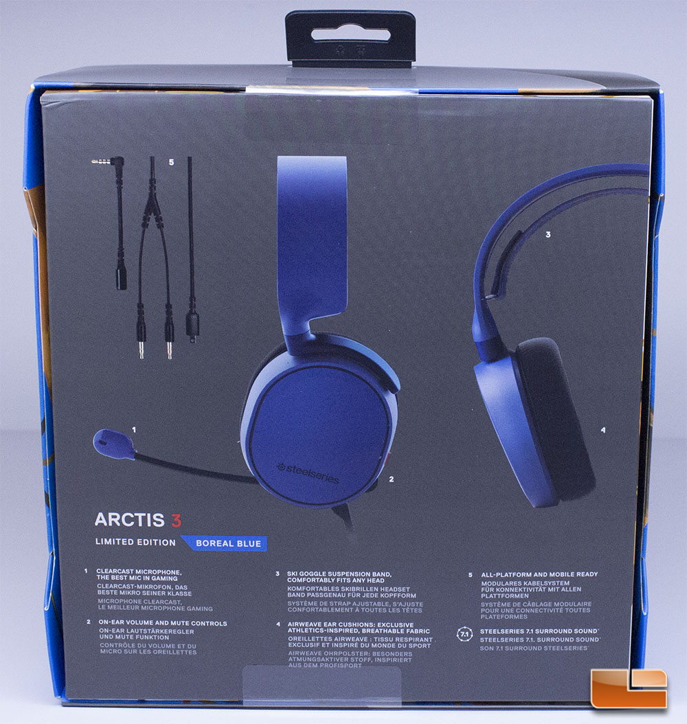 """The SteelSeries Arctis 3 comes in an appropriately sized box that is  well-made and illustrates the product very well. SteelSeries puts text that  says """"Best ... 343c708328bf4"""