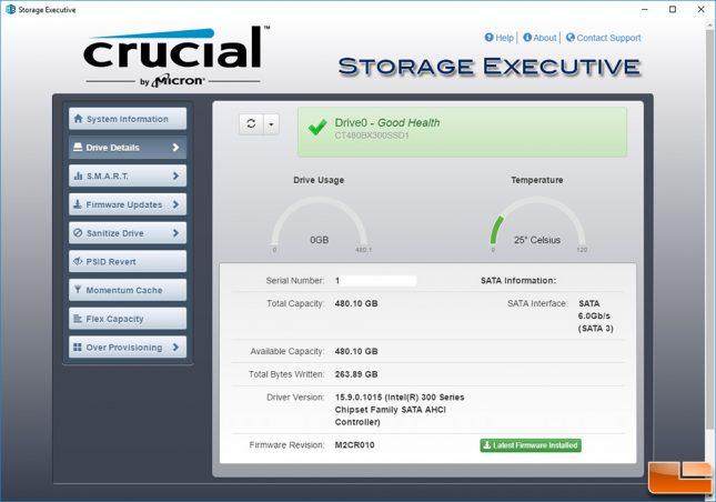 Crucial Storage Executive Tool