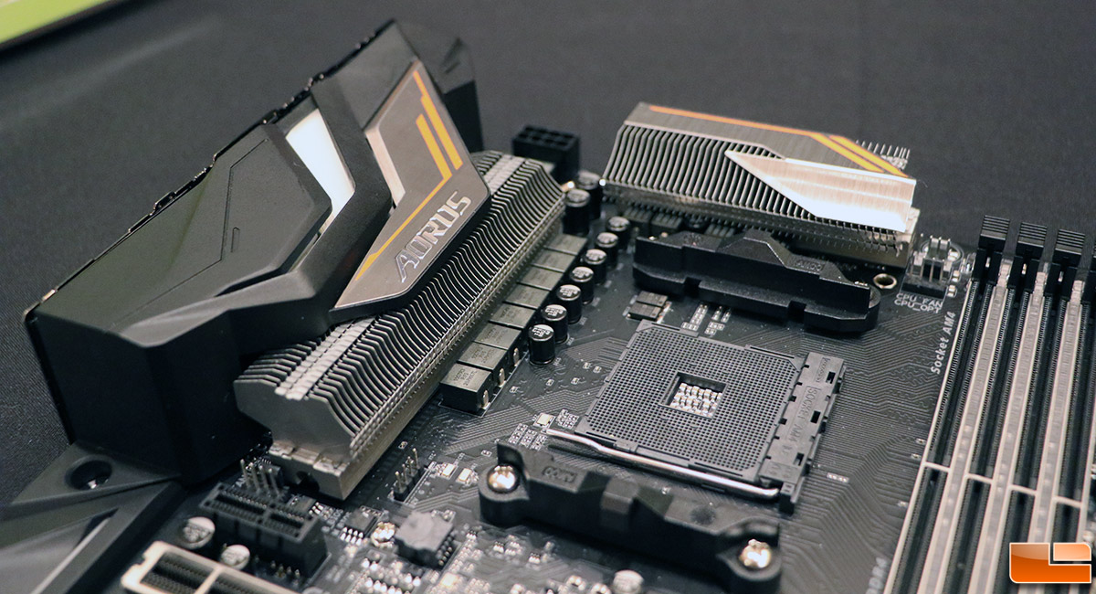 CES 2018 - Gigabyte Shows off the First AMD X470 Motherboard