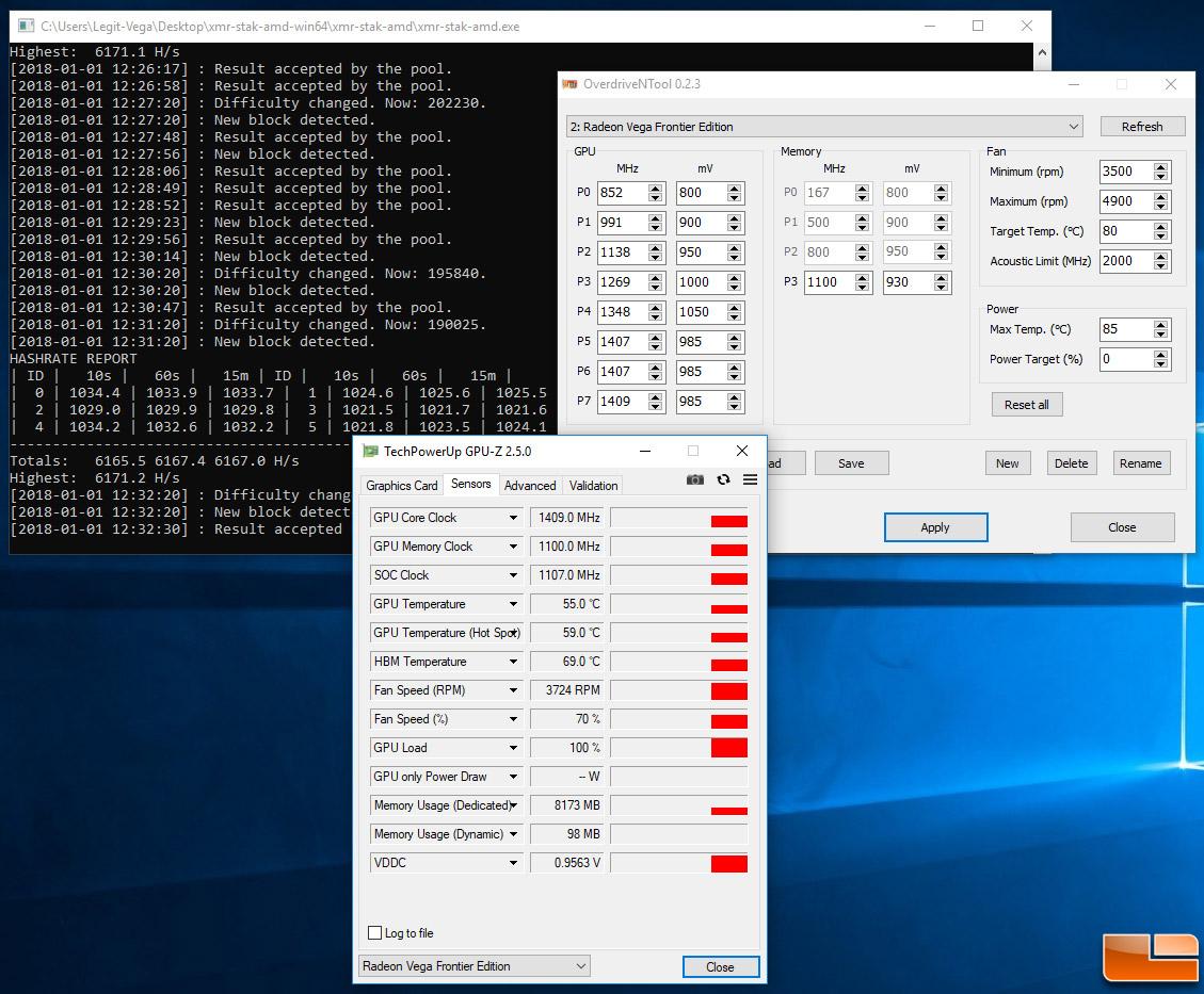 Mining XMR Monero With AMD Radeon Vega Frontier Edition