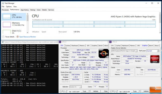 AMD Ryzen 5 2400g XMR-STAK
