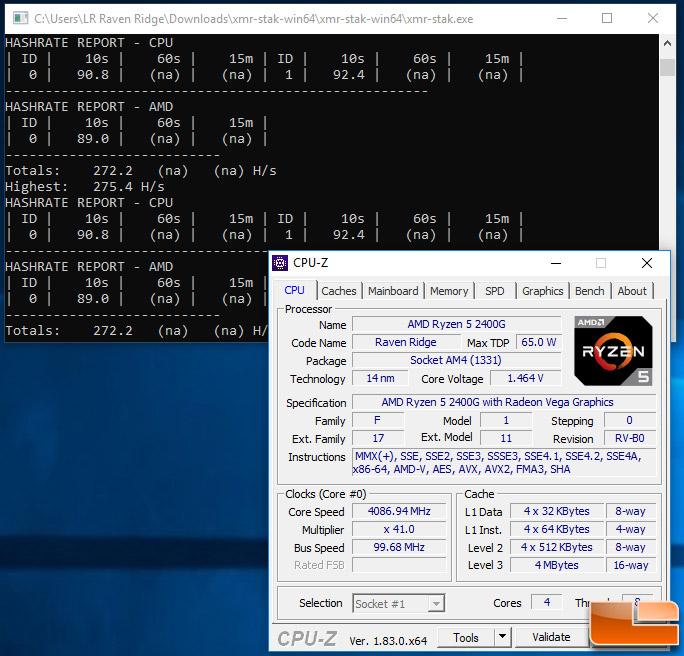 AMD Ryzen 5 2400G Mining Performance with NiceHash and XMR