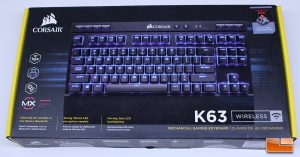 Corsair K63 Wireless Retail Packaging - Front