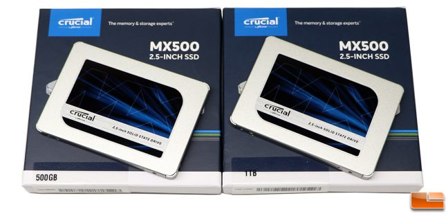 Crucial MX500 SATA SSDs