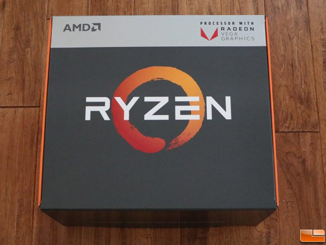 AMD Raven Ridge Ryzen Processor Unboxing