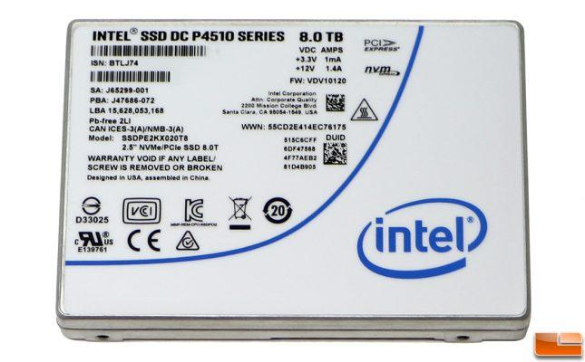 Intel SSD DC P4510 8TB Enterprise Drive