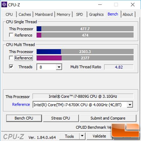 Intel Hades Canyon NUC8i7HVK NUC Review - Radeon RX Vega M