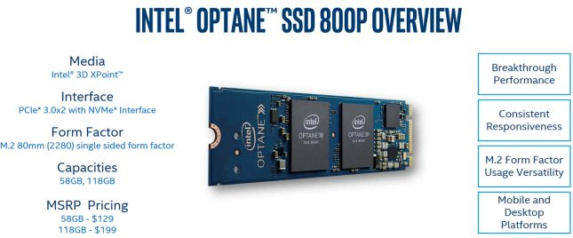 Intel Optane SSD 800P Overview