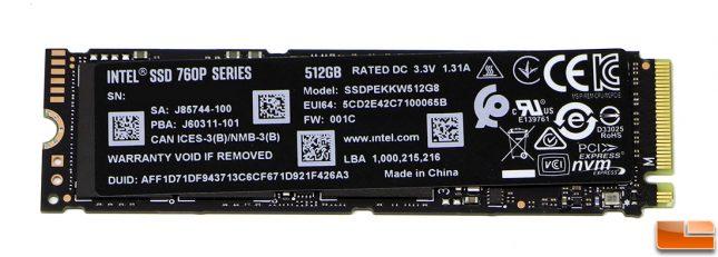 Intel SSD 760P 512GB M.2 PCIe NVMe SSD