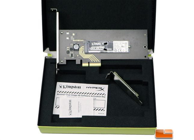 Kingston Digital KC1000 NVMe PCIe SSD Packaging
