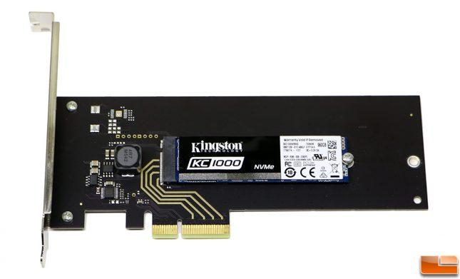 Kingston Digital KC1000 NVMe PCIe 960GB SSD