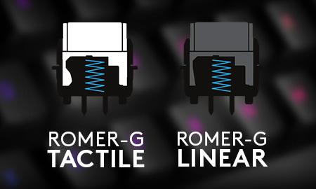 Logitech Romer-G Tactile and Romer-G Linear