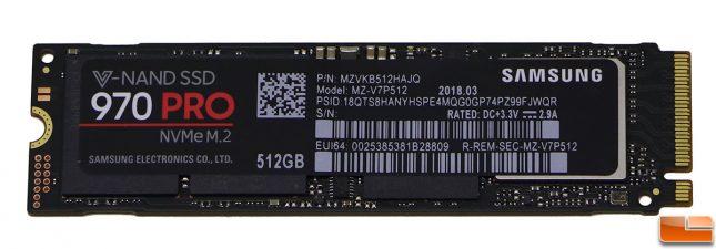 Samsung SSD 970 PRO 512GB M.2 NVMe SSD