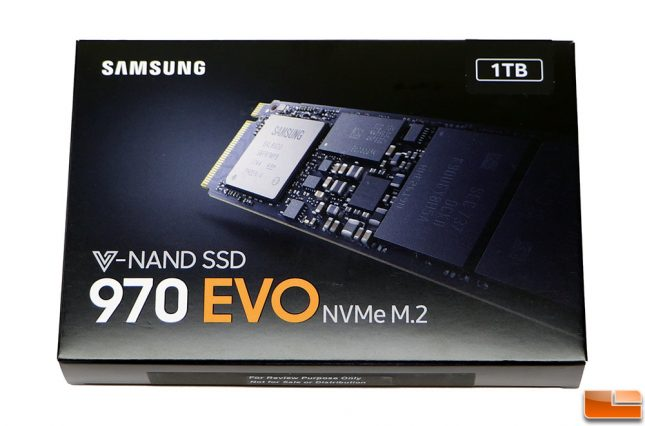 Samsung SSD 970 EVO Retail Packaging