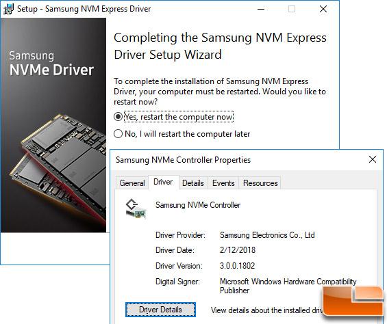 Samsung NVMe Driver 3.0