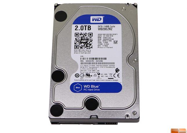 WD Blue 2TB Hard Drive WD20EZRZ