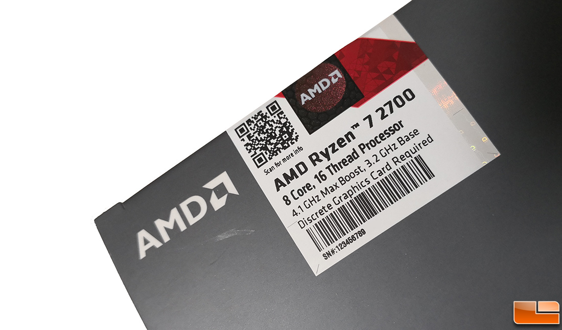 AMD Ryzen 7 2700 8-Core 65W Processor Review - Legit