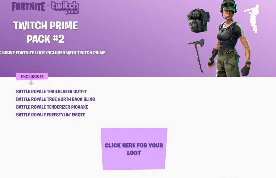Twitch Prime Subscribers Get Second Fortnite Loot Pack