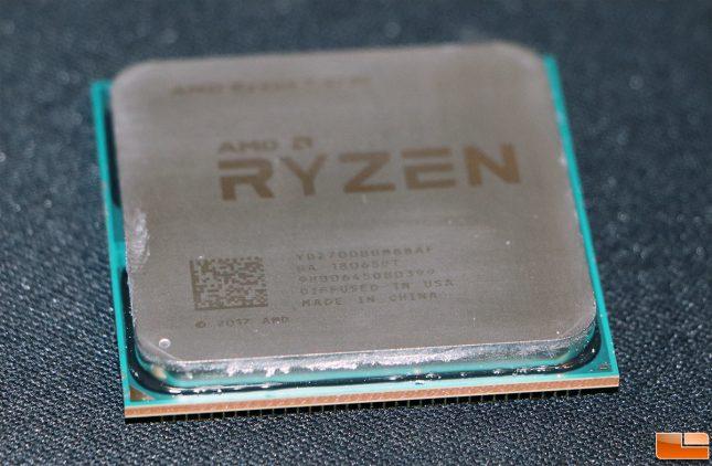 AMD Ryzen 7 2700 CPU Thermal Paste