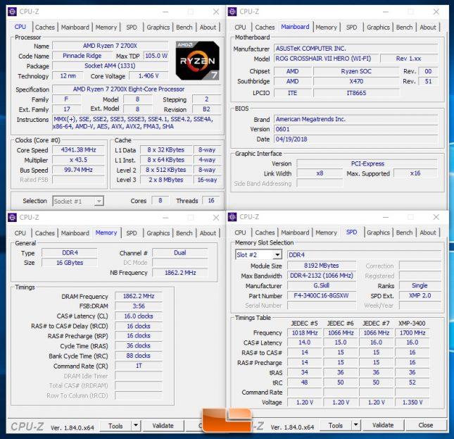 AMD Ryzen 7 2700X with DDR4 3733MHz