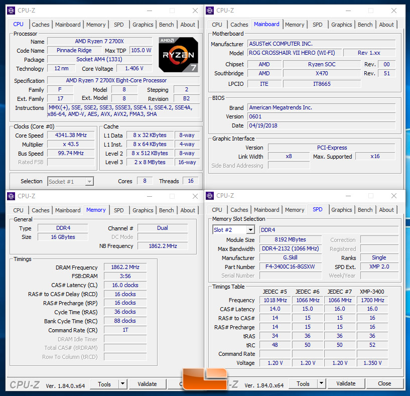 DDR4 Memory Scaling Performance with Ryzen 7 2700X on the