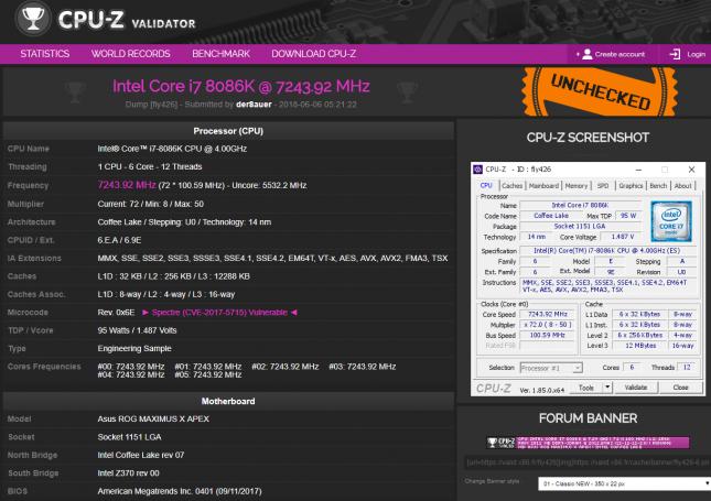 Intel Core i7 8086K Overclocked by der8auer