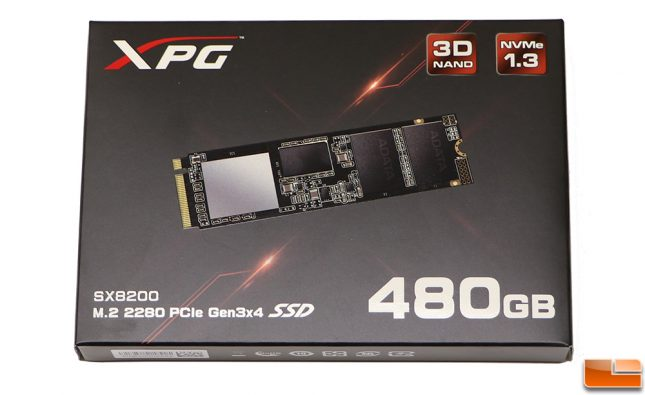 ADATA XPG SX8200 Retail Packaging