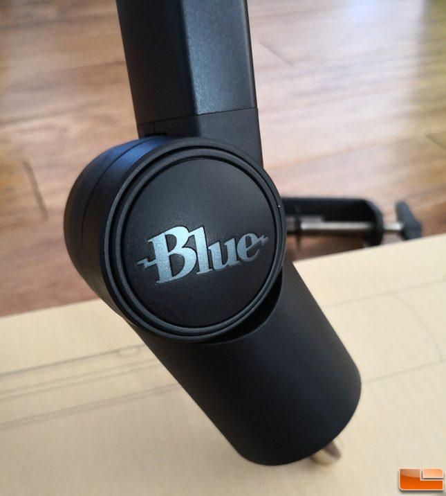 Blue Compass Boom Arm Logo