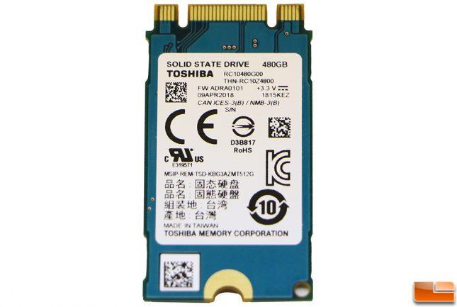 Toshiba RC100 480GB SSD Back