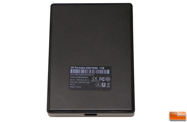 HP Portable SSD P600 Label