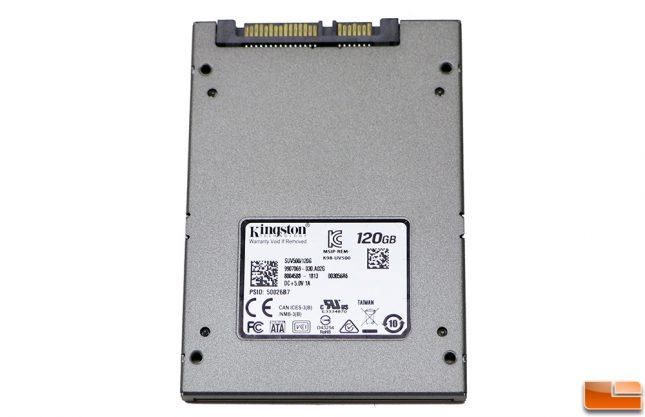 Kingston UV500 SSD Back PSID Number