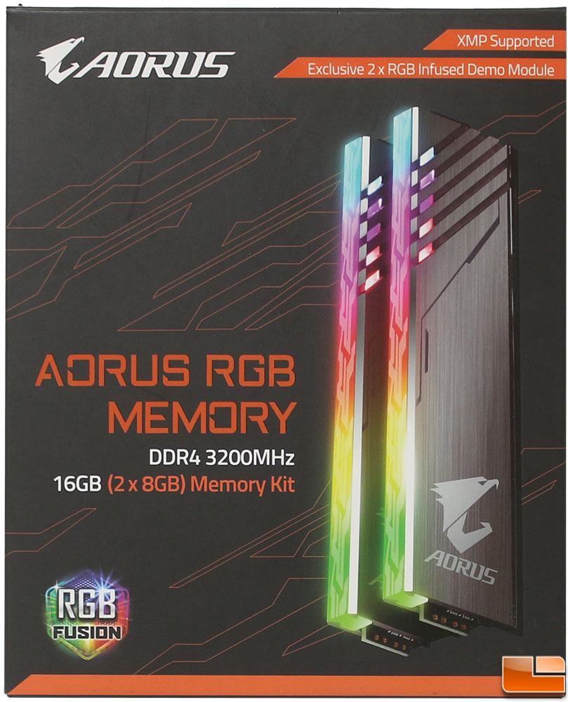 Aorus DDR4 RGB 16GB 3200MHz Memory Kit Review - Legit Reviews