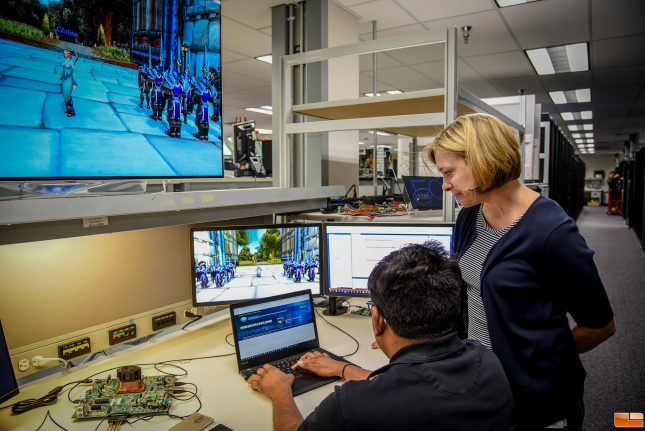 Lisa Pearce Working in the Intel graphics lab