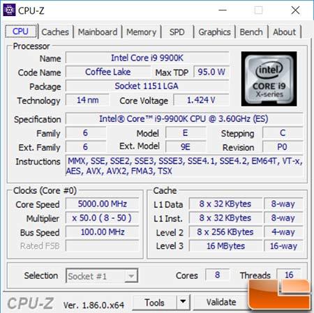 9900K CPU-Z