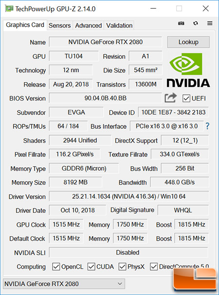 EVGA GeForce RTX 2080 XC Ultra Graphics Card Review - Page 2