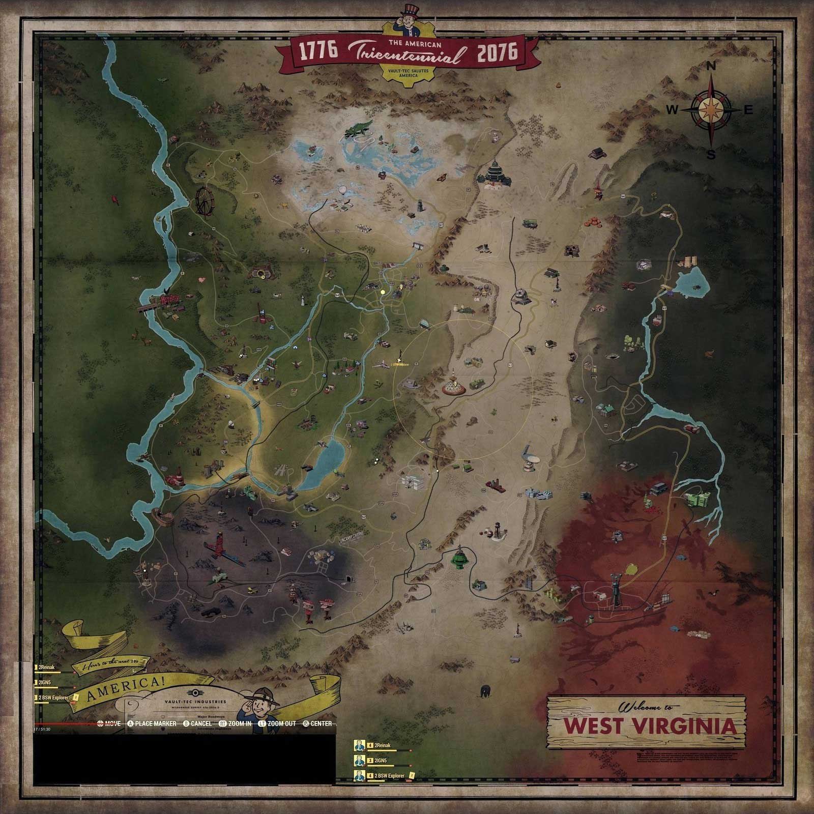 Fallout 76\'s Huge Map Details the Massive Game World - Legit Reviews