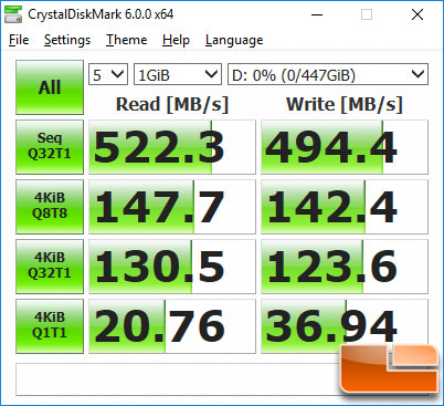 HyperX Savage EXO Crystal Disk Mark