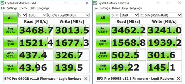 BPX Pro CrystalDiskMark