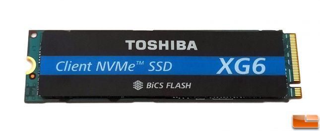 Toshiba XG6 Client NVMe SSD