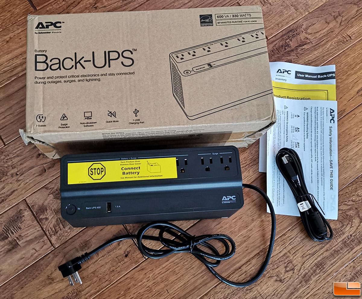Back-UPS 600VA Battery Backup /& Surge Protector USB Charging Port BE600M1
