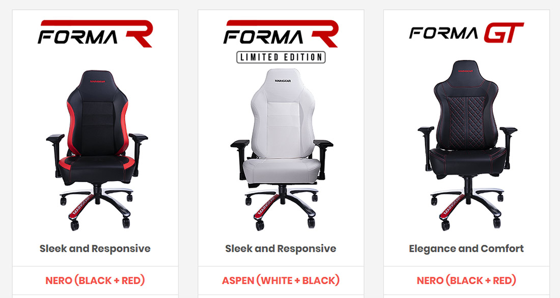 Enjoyable Maingear Forma R Nero Gaming Chair Review Legit Reviews Andrewgaddart Wooden Chair Designs For Living Room Andrewgaddartcom