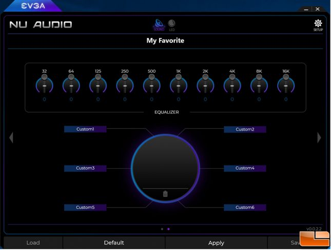 EVGA NU Audio Software - EQ