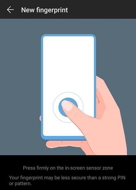 Mate 20 Pro Fingerprint Scanner