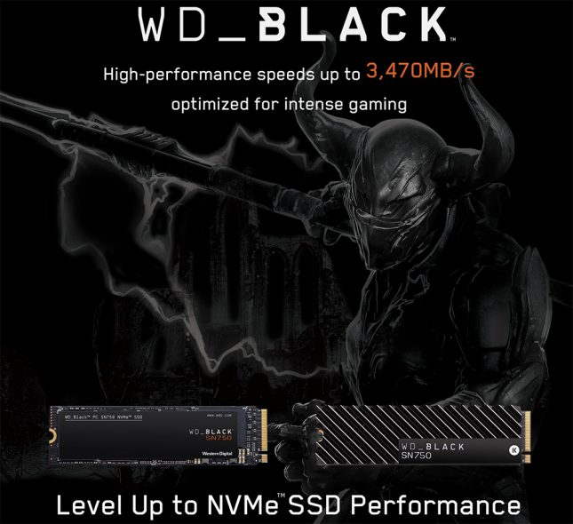 WD Black SN750 NVMe Drive Series
