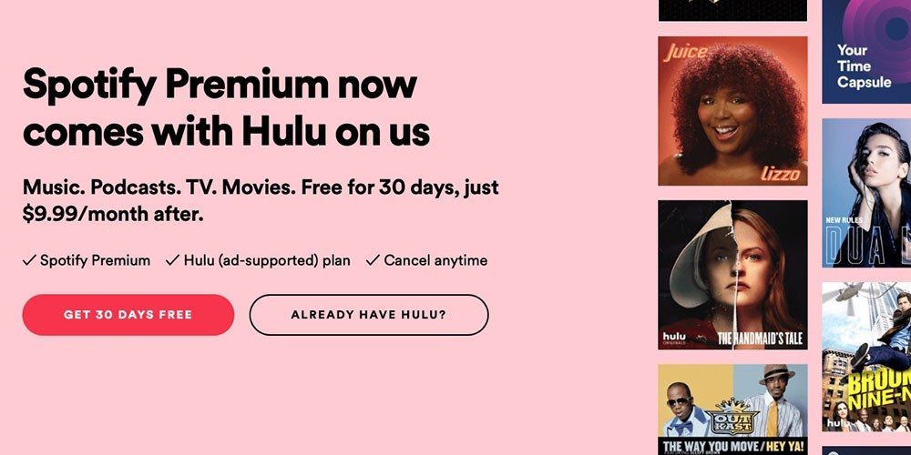 Spotify Premium Now Includes Free Hulu - Legit Reviews