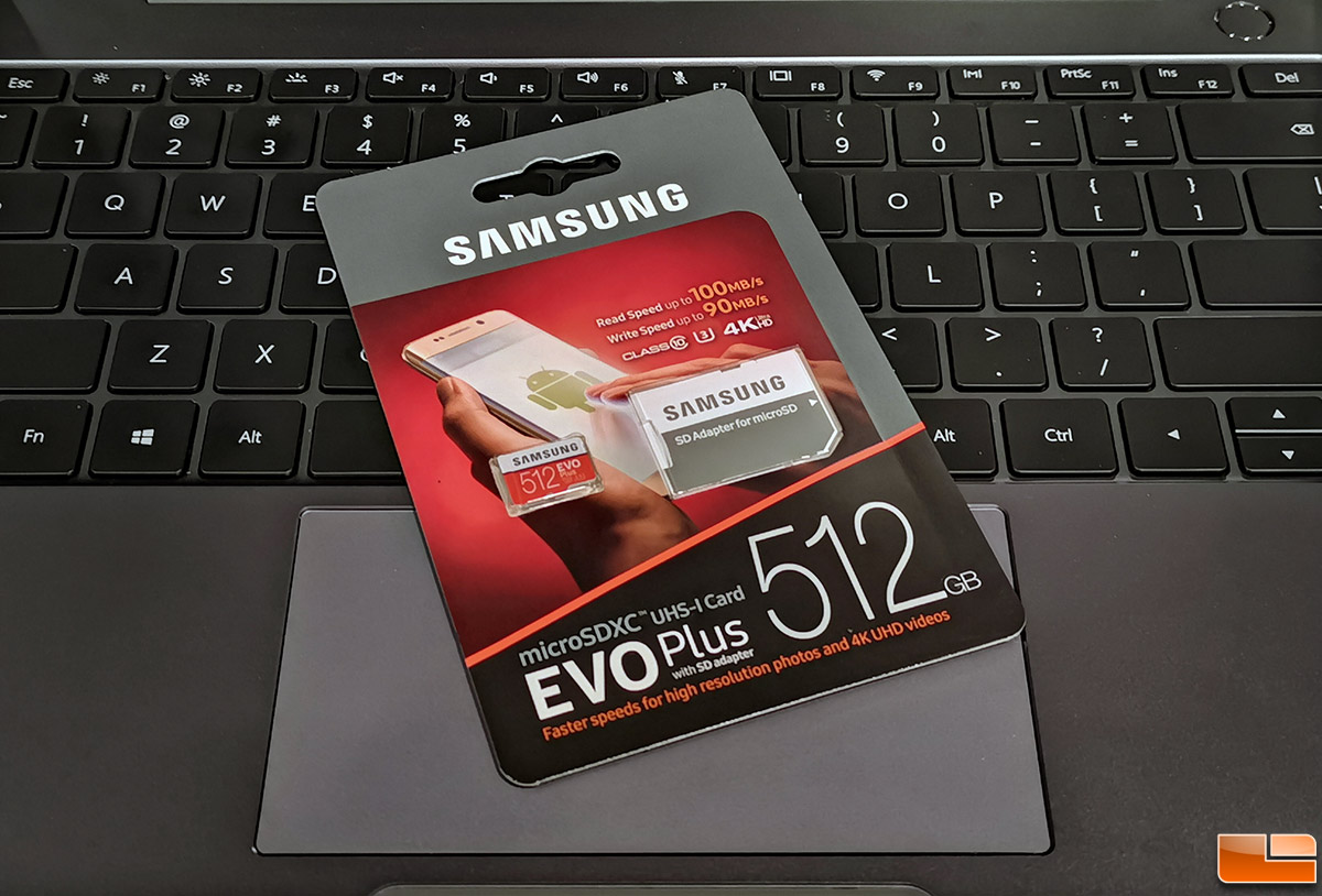 Samsung 512 Gb Evo Plus Microsd Card With Adapter Review Legit Reviews Samsung 512 Gb Evo Plus Microsdxc Free Space