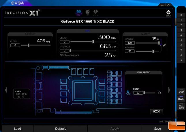 EVGA GeForce GTX 1660 Ti XC Black Precision X1