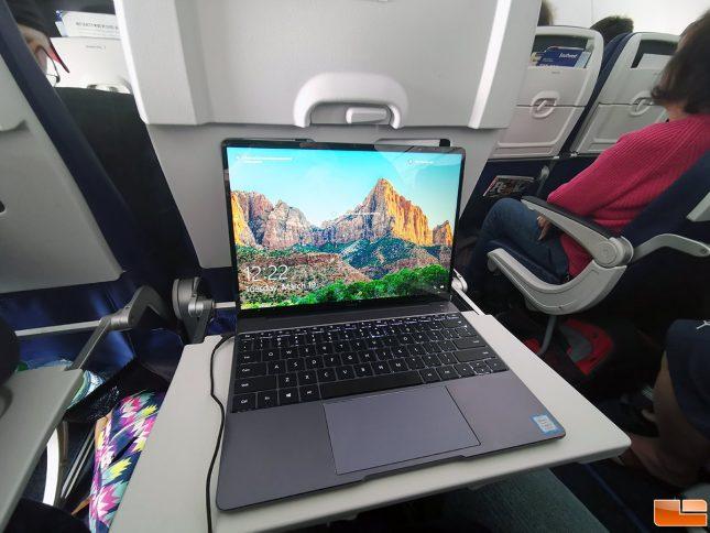 Huawei Matebook 13 Laptop in Airplane